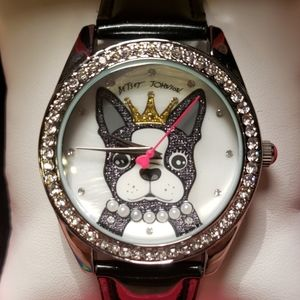 Betsey Johnson Its ruff out there black watch